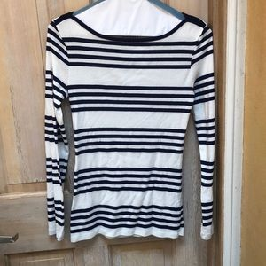 Old Navy striped Navy & White shirt